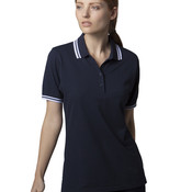 Ladies Tipped Polo Shirt by Kustom Kit