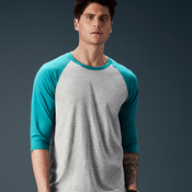 3/4 Sleeve Tri Blend Shirt by Anvil